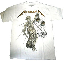 【METALLICA】メタリカ「AND JUSTICE FOR ALL WHITE」Tシャツ