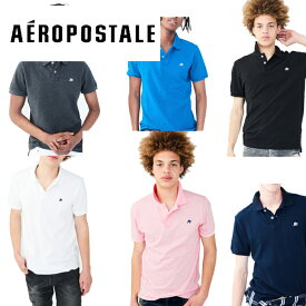 Aeropostale エアロポステール メンズ半袖ポロシャツ 無地 鹿の子POLO インポート【楽ギフ_包装】通学通勤ビジネスに