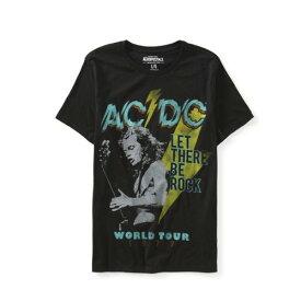 AC/DC バンド ワールドツアーコンサートTEE エアロポステール[AEROPOSTALE]メンズ 半袖Tシャツ プリント 丸首 6008-6692 BLACK ブラック 黒 インポートブランド【楽ギフ_包装】
