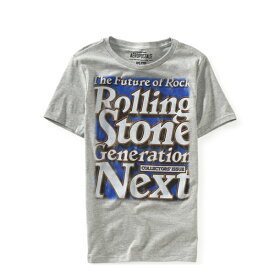 ローリングストーンズ ROLLING STONE Generation NextバンドTEE エアロポステール[AEROPOSTALE]メンズ 半袖Tシャツ プリント 丸首 6008-6690 GREY グレー インポートブランド