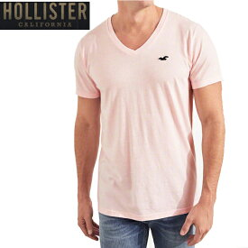 HOLLISTERホリスター正規品メンズ半袖TEEシャツ ピンク VネックGuys Must-Have V-Neck T-Shirt 324-368-0388-600インポートブランド海外買い付け【楽ギフ_包装】