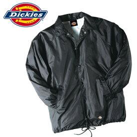 Dickiesディッキーズ正規品アメリカ買い付けコーチジャケットナイロンウィンドブレーカー Snap Front Nylon Jacket黒Blackブラック 76242BKアメリカ買い付けインポートブランド海外買い付け正規