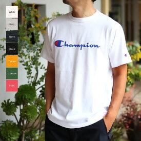 Champion チャンピオン メンズ ロゴプリントメンズ Tシャツ(M L XL)半袖Tシャツ 【メール便可】