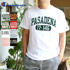 Champion チャンピオン メンズ 2柄Tシャツ(M L XL)【メール便可】PASADENA ロゴTシャツ C3-P335