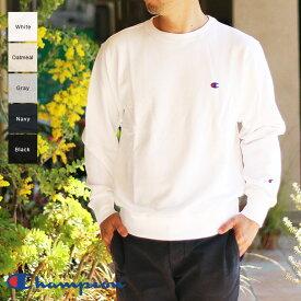 Champion チャンピオン メンズ クルーネックスウェットシャツ(L XL) C3-C019 ホワイト グレー ブラック オートミール ネイビー メール便不可