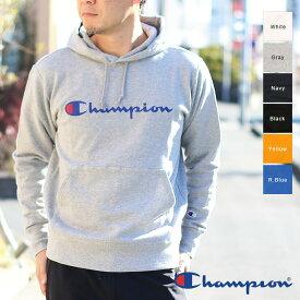 Champion チャンピオン メンズ プルオーバーロゴパーカー(M L XL)C3-J117 メール便不可 ホワイト グレー ネイビー ブラック ブルー イエロー