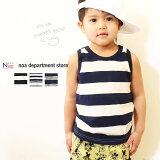 noadepartmentstore.ボーダータンクトップ(80-140cm)子供服/ベビー/キッズ/ジュニア/綿100%