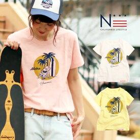 【クーポンで半額】【メール便可】親子 ペア お揃い レディース メンズ Tシャツ Aloha Honolulu (160cm 165cm 175cm)【HD】