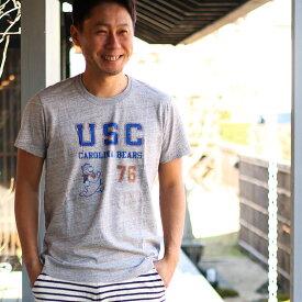 【メール便可】親子 ペア お揃い レディース メンズ Tシャツ College USC (160cm)【CO】