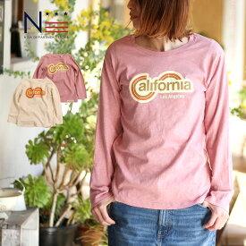 【クーポンで半額】長袖 Tシャツ80's CaliforniaロンT(160cm 165cm 175cm)親子ペア お揃い【メール便可】