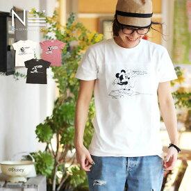 ディズニー 親子ペア お揃い ミッキーマウス ベースボール Tシャツ(160cm)半袖Tシャツ【メール便可】