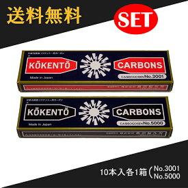 コウケントー 光線治療器用カーボン 3001番 5000番 セット 10本入り各1箱