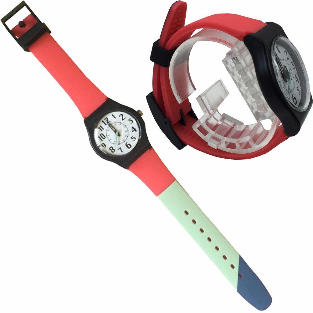 QKD405-6/Fild work/フィールドワーク シリコンバンド腕時計(ユニセックス) ダグラス レッド ファッション/おしゃれ/雑貨/ウォッチ/ギフト/プレゼント