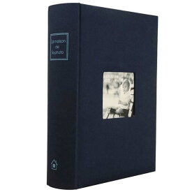 105-446/万丈/[メゾンシリーズ]MEGA ALBUM 600「メガアルバム」(ネイビーブルー)/写真/整理/整頓/収納/子供/恋人/思い出/ギフト/プレゼント