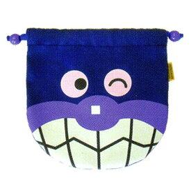 【あす楽対応】012053/ANP-800 アンパンマンフェイス巾着「バイキンマン」/キッズ/キャラクター/雑貨