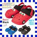 96961/ZIP(ジップ)もこもこスーパーカーサンダル/キッズ(M)[(サイズ:約18cm)/レッド×ブラック]/EVA/タウン/靴/ガーデニング/おでかけ/子供/おしゃれ/ギフト/プレゼント