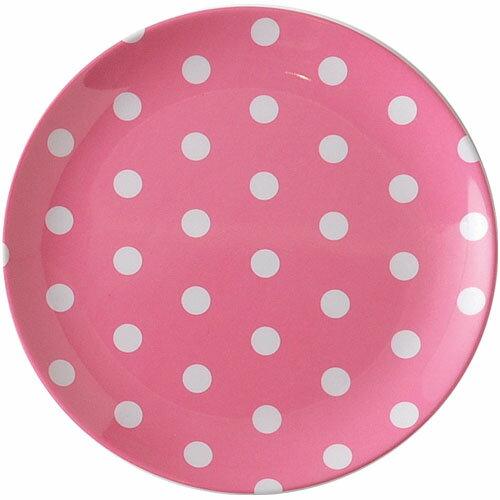 DOMEPLPK/キーストーン カラードット メラミンプレート【ピンク/PINK/桃色】食器/皿/割れにくい/新生活/業務用