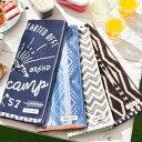 <バスタオル 60×120 単品>綿100%キャンプ風デザインタオル ロゴ柄 おしゃれ かっこいい かわいい 綿100% エスニッ…