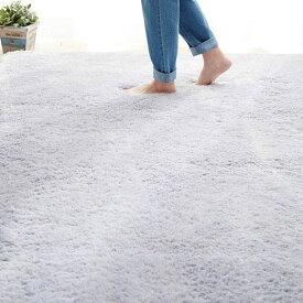 90×120 長方形 ウレタン入 ふかふか さらさら ふわふわ さらふわ ボリューム 防音 ホットカーペット対応 カーペット ラグ 絨毯 シャギーラグ 防音さらふわボリュームシャギーラグ ベルーナ ノアン インテリア