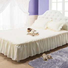 ドレスのようなプリンセスフリルカバーリング<姫系>/フリル付ベッドシーツダブル/インテリア・寝具・収納 寝具 ベッドパッド・敷きパッド