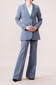 【あす楽対応・送料無料】小さいサイズ 7号/9号/11号/13号/15号/17号/19号/21号/23号/25号 大きいサイズ◆美脚パンツスーツ ビジネススーツ リクルートスーツ 選べるまた下丈82cm/86cm