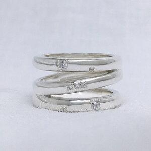 オリオン座3連リング(クリア星) ハンドメイド シルバーリング おしゃれ 可愛い 指輪 大きいサイズ レディース 個性的 ペアリング プレゼント 5~25号 0.5号刻み可能
