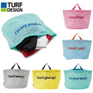 ゴルフ ランドリートートバッグ ターフデザイン TDLT-2070 ランドリーバッグ 洗濯バッグ メッシュ そのまま洗える トートバッグ 洗濯ネット