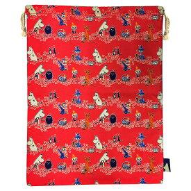 ムーミン ピクニック 巾着 レッド MMAP2498