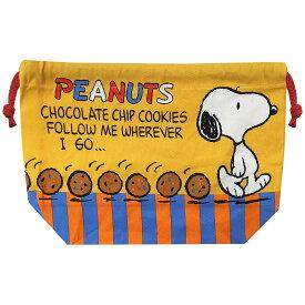 ピーナッツ マチ付巾着 チョコチップクッキー SNKN1639