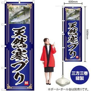 のぼり 天然寒ブリ(青) YN-4789