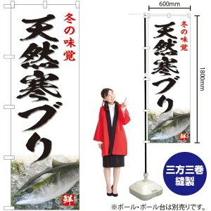 のぼり 冬の味覚 天然寒ブリ(白) YN-4804