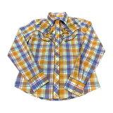 レディースウエスタンシャツチェック柄長袖やや大きめのSサイズS-Mくらい