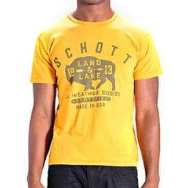 送料無料!メール便 Schott ショット Tシャツ 半袖 LAND ヘビーウェイトコットン イエロー USAモデル Heavy Weight Cotton Tee Made in USA メンズ セレクト インポート【メンズセレクト】