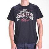 送料無料!メール便SchottショットTシャツ半袖PERFECTO黒ブラックUSAモデルT-Shirt
