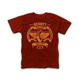 送料無料!メール便SchottショットTシャツ半袖フライングタイヤ赤レッドUSAモデルFlyingTireLogoT-ShirtRed