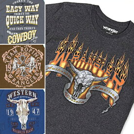Wrangler ラングラー Tシャツ 半袖 グレー ブラウン ブルー 茶 青 S M L メンズ セレクト インポート
