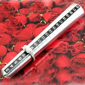 [ポイント10倍][返品保証]プロ仕様・リングサイズ棒/ポケットサイズ(6号〜20号用)◆奥様の指輪サイズをこっそり測って、サプライズでプレゼント♪◆【記念日プレゼント】【自分にご褒美】
