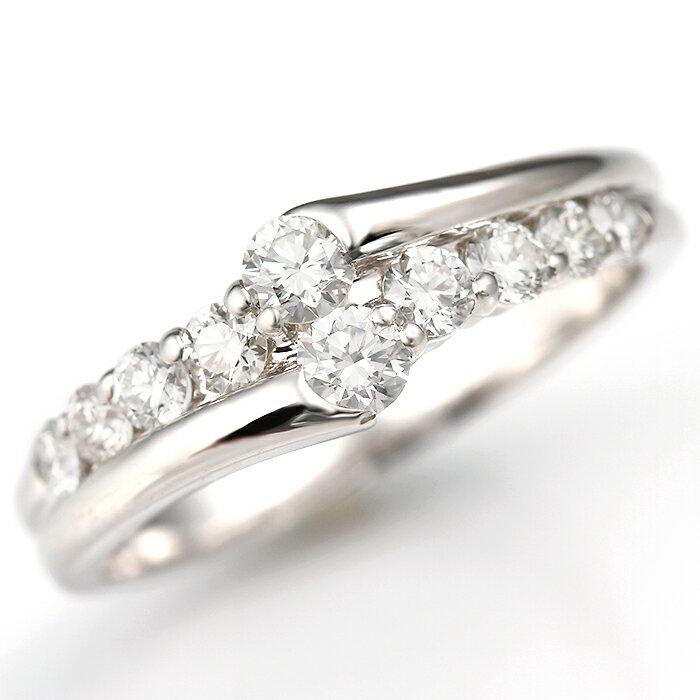 スイートテン プラチナダイヤモンド リング 10周年 結婚記念日 ダイヤモンドリング[0.5ct]《ダイヤ:カラーD-F/クラリティVVS1-VS1/カットEX-VG》【輝き保証!】