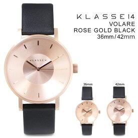 KLASSE14 メンズ クラス14 42mm 36mm レディース 腕時計 VOLARE ROSE GOLD BLACK ヴォラーレ VO14RG001M VO14RG001W [172]