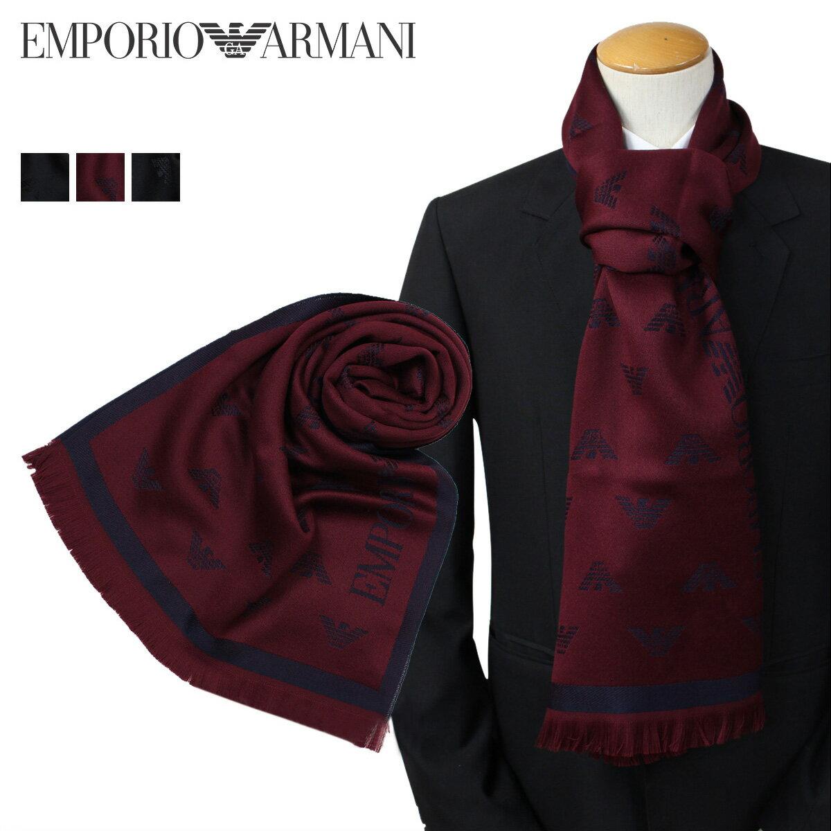 EMPORIO ARMANI マフラー メンズ エンポリオ アルマーニ ウール イタリア製 ビジネス カジュアル 6250097A306 [12/27 追加入荷][1712]