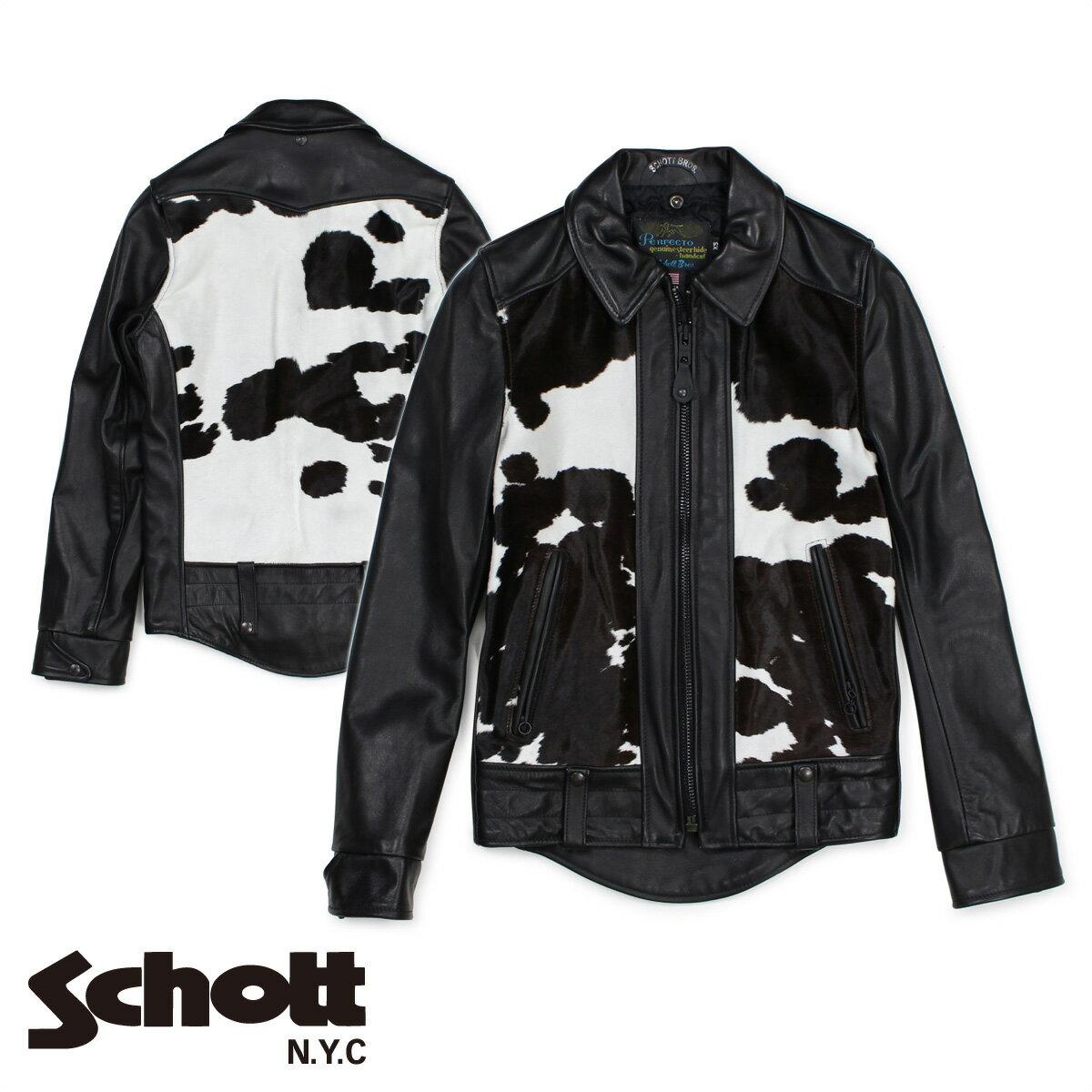 Schott EL CAMINO 50'S WEST COAST BIKER JACKET ショット ライダースジャケット ジャケット レザージャケット メンズ ブラック P6422 [1712]
