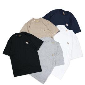 carhartt WORKER POCKET S/S T-SHIRTS カーハート Tシャツ 半袖 メンズ コットン ブラック ホワイト グレー ネイビー ベージュ 黒 K87 [196]