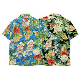 Pacific legend HAWAIIAN SHIRTS パシフィック レジェンド アロハシャツ メンズ ハワイ製 ブラック ブルー 410-3799 [186]