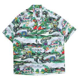 Pacific legend HAWAIIAN SHIRTS パシフィック レジェンド アロハシャツ メンズ ハワイ製 グレー 410-3914 [186]