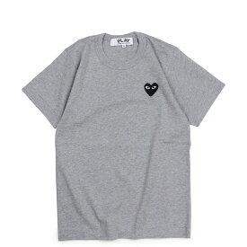 COMME des GARCONS PLAY BLACK HEART T-SHIRT コムデギャルソン Tシャツ 半袖 レディース グレー AZT075