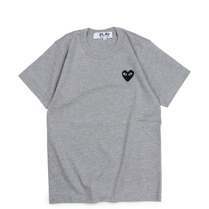 COMME des GARCONS PLAY BLACK HEART T-SHIRT コムデギャルソン Tシャツ 半袖 レディース グレー AZT075 [193]