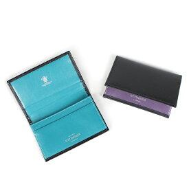 ETTINGER VISITING CARD CASE エッティンガー 名刺入れ カードケース メンズ ブラック ST143JRB [193]