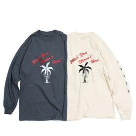 JUNGLES WISH YOU WERENT HERE LS TEE ジャングルズ Tシャツ メンズ 長袖 ロンT アイボリー チャコールグレー JTL181034 [189]
