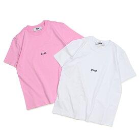 【最大600円OFFクーポン】 MSGM MICRO LOGO T-SHIRT Tシャツ レディース エムエスジーエム 半袖 ホワイト ピンク 2541MDM100 184798