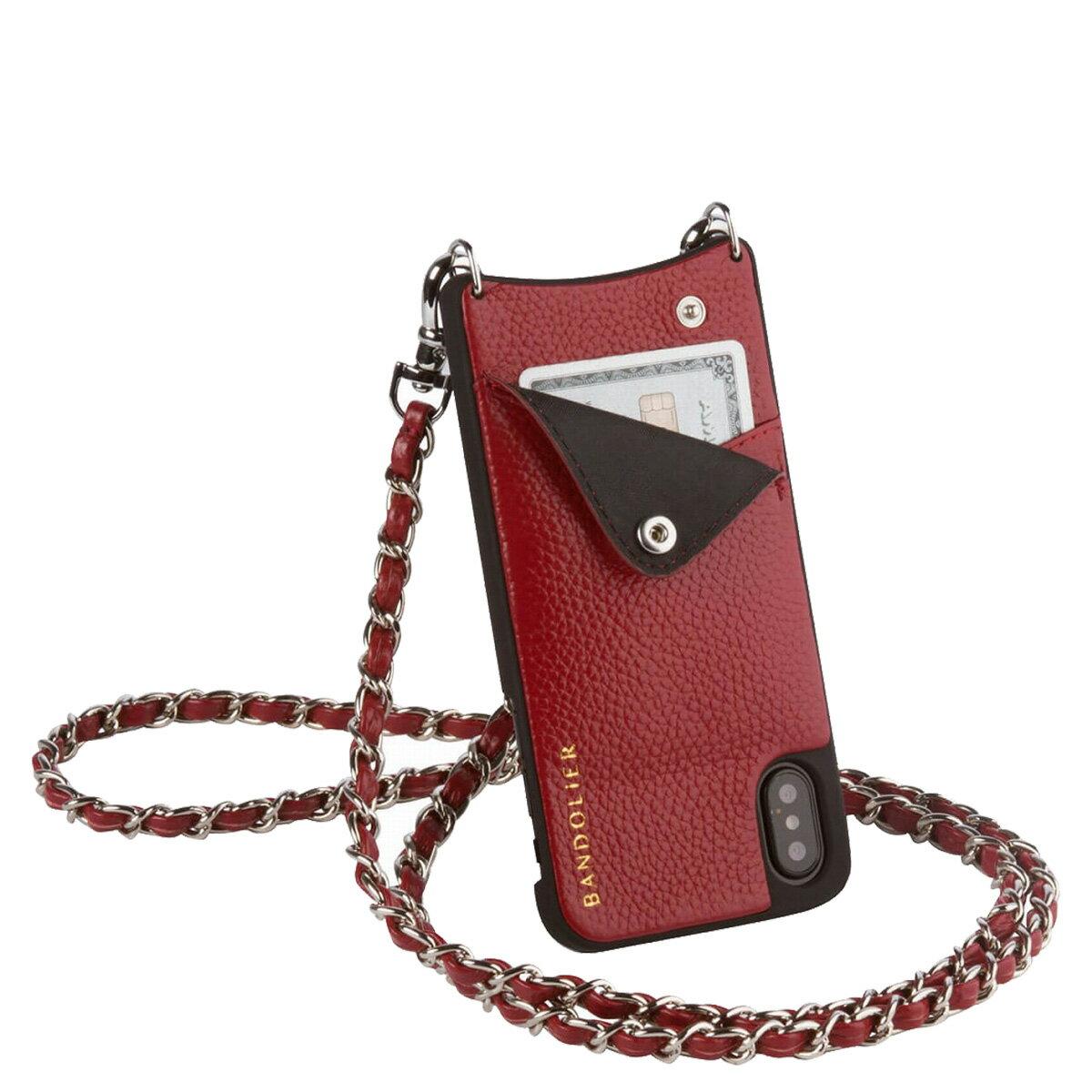 BANDOLIER LUCY CRIMSON バンドリヤー iPhoneXS X ケース スマホ アイフォン レザー メンズ レディース [1810]